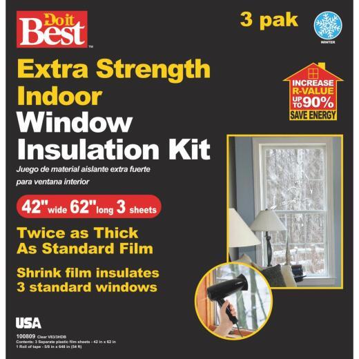 Do it Best 42 In. W. x 62 In. L. Shrink Window Film (3-Sheets)
