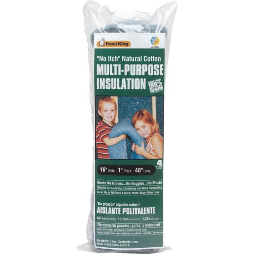 Frost King 16 In. x 48 In. Natural Cotton Denim Insulation