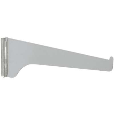 Knape & Vogt 180 Series 14 In. Anochrome Steel Regular-Duty Single-Slot Shelf Bracket