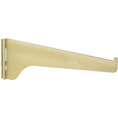 Knape & Vogt 180 Series 8 In. Brass Steel Regular-Duty Single-Slot Shelf Bracket