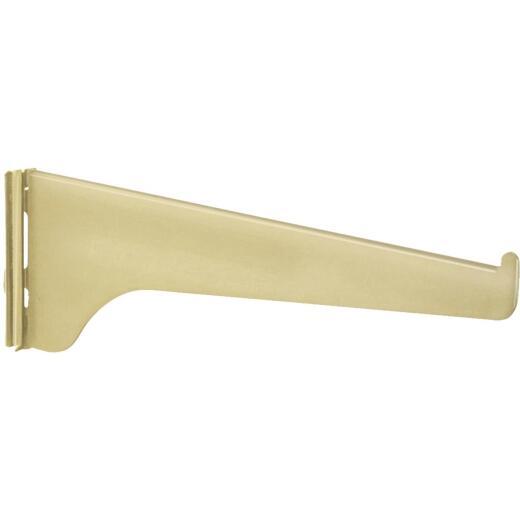 Knape & Vogt 180 Series 6 In. Brass Steel Regular-Duty Single-Slot Shelf Bracket