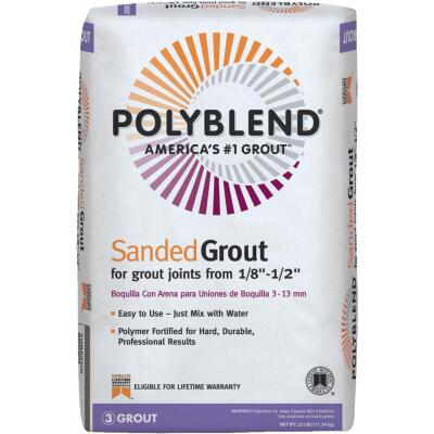 Custom Building Products Polyblend 25 Lb. Bright White Sanded Tile Grout