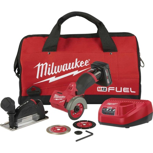 Milwaukee M12 FUEL 12-Volt Lithium-Ion Brushless 3 In. Compact Cordless Cut-Off Tool Kit