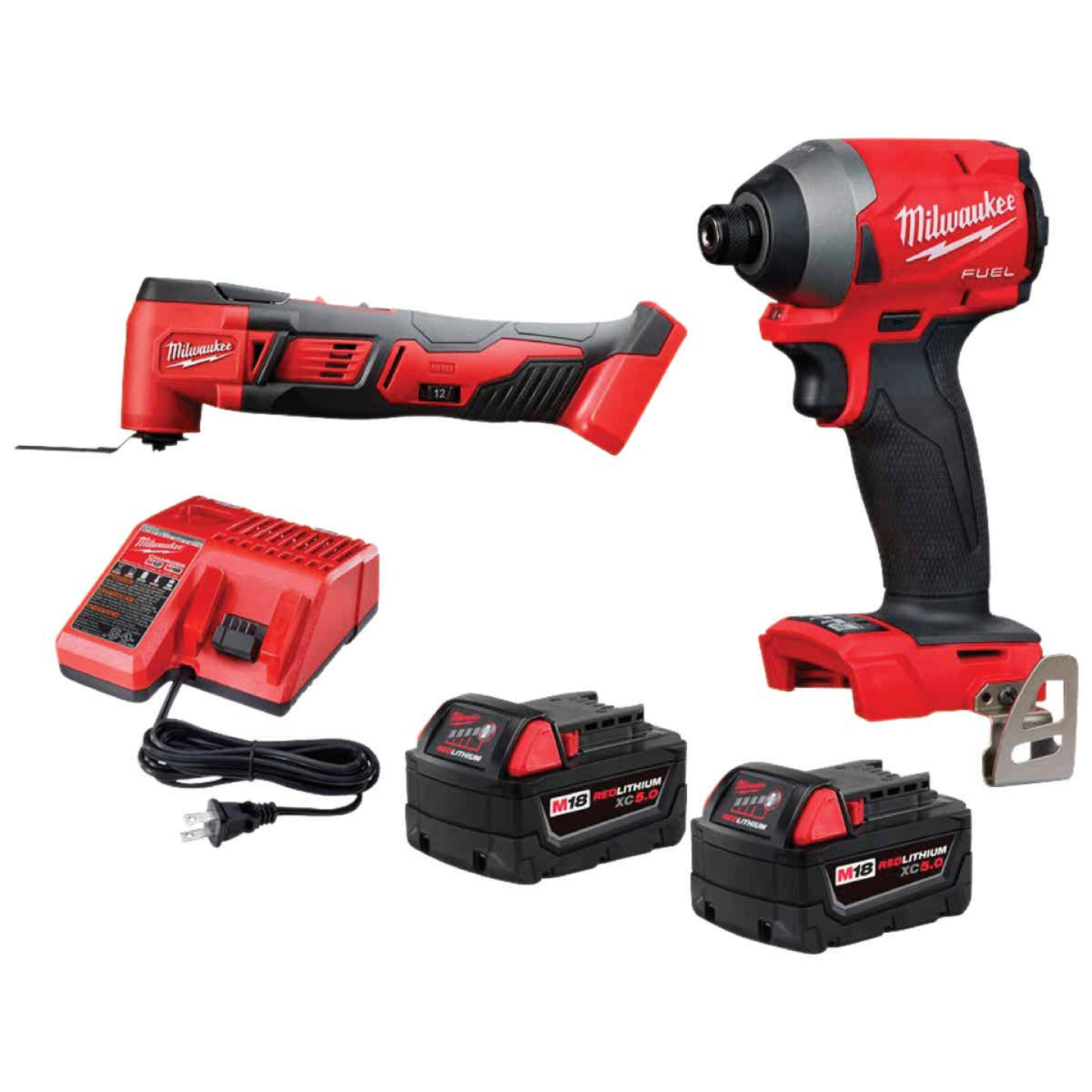 Milwaukee 2-Tool M18 FUEL Lithium-Ion Brushless Impact Driver & Multi-Tool Cordless Tool Combo Kit Image 1