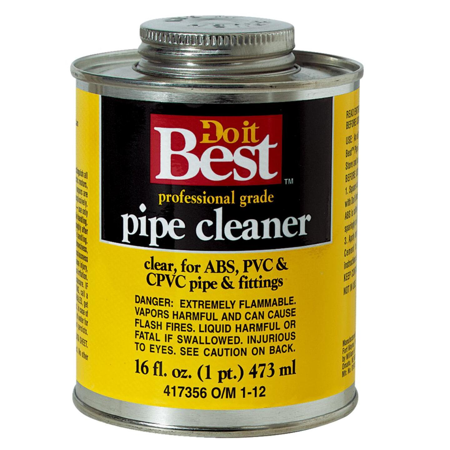 Do it Best 16 Oz. All-Purpose Pipe Clear PVC Cleaner Image 1