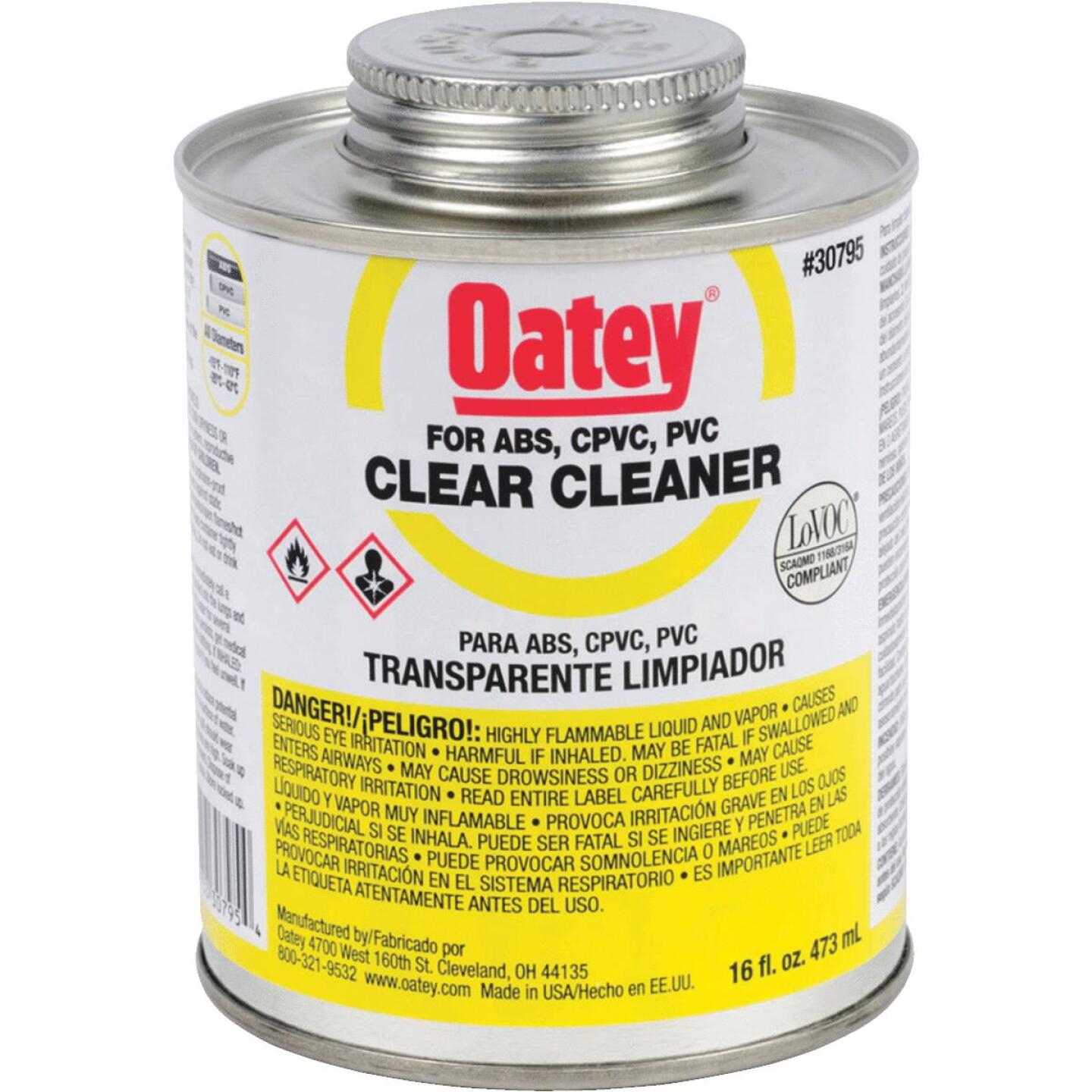 Oatey 16 Oz. All-Purpose Clear PVC Cleaner Image 1