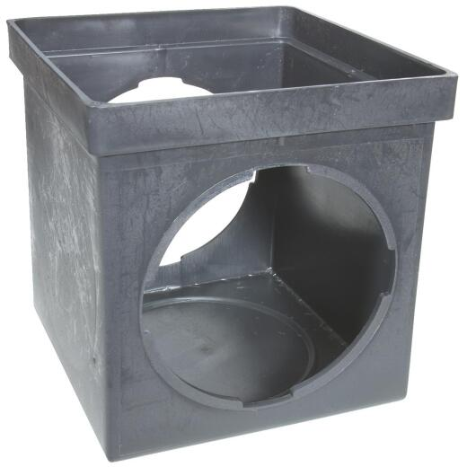 NDS 9 In. x 9 In. Black Square Catch Basin