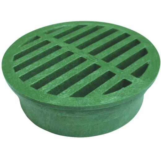 NDS 4 In. Green PVC Round Grate