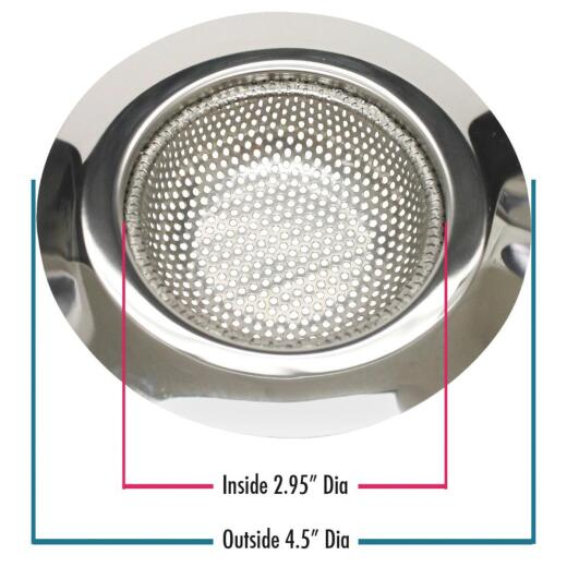 Do it Best 4-1/2 In. Stainless Steel Kitchen Sink Strainer Cup (2-Pack)