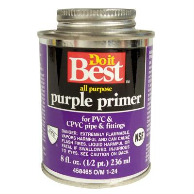 Do it Best 8 Oz. Purple Pipe and Fitting Primer for PVC/CPVC