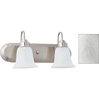 Home Impressions Julianna 2-Bulb Brushed Nickel Vanity Bath Light Bar