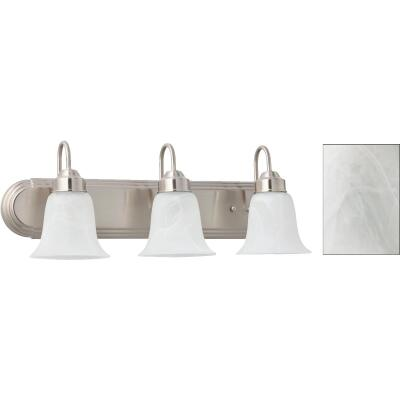 Home Impressions Julianna 3-Bulb Brushed Nickel Vanity Bath Light Bar