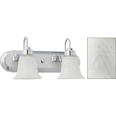 Home Impressions Julianna 2-Bulb Chrome Vanity Bath Light Bar