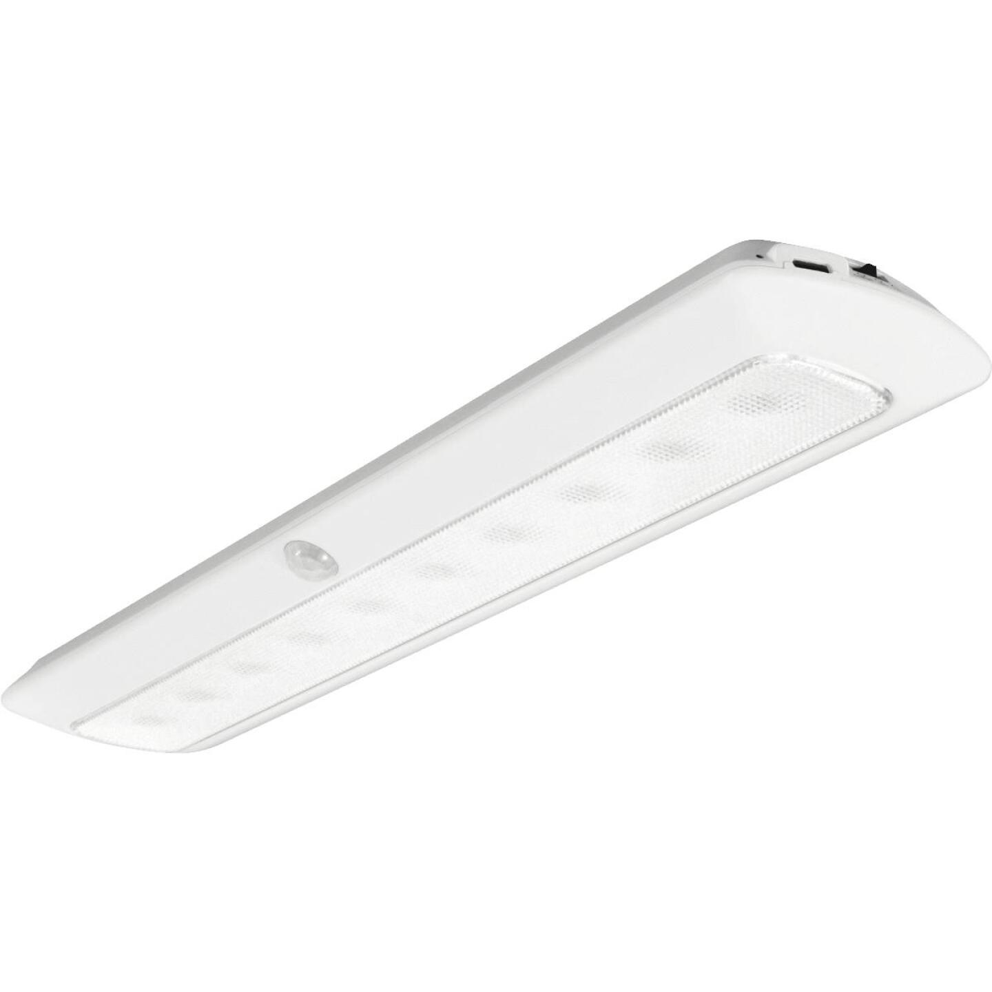 Good Earth Lighting White LED Rechargeable Battery Operated Strip Light Image 1
