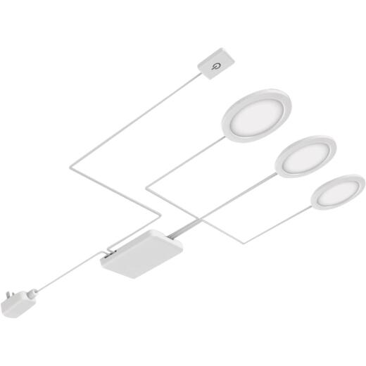 Good Earth Lighting 2.5 In. Plug-In White LED Under Cabinet Light Kit