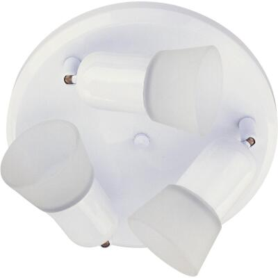 Home Impressions 5 Series 3-Bulb White Ceiling or Wall Light Fixture