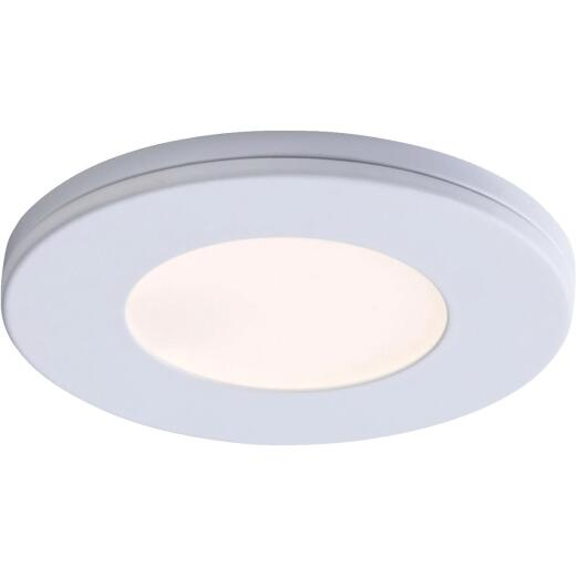 Liteline 3 In. Dia. X 1/4 In. Thick Plug-In White LED Under Cabinet Puck Light