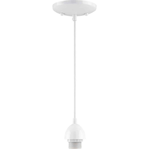 Westinghouse 1 Bulb White Incandescent Pendant Light Fixture