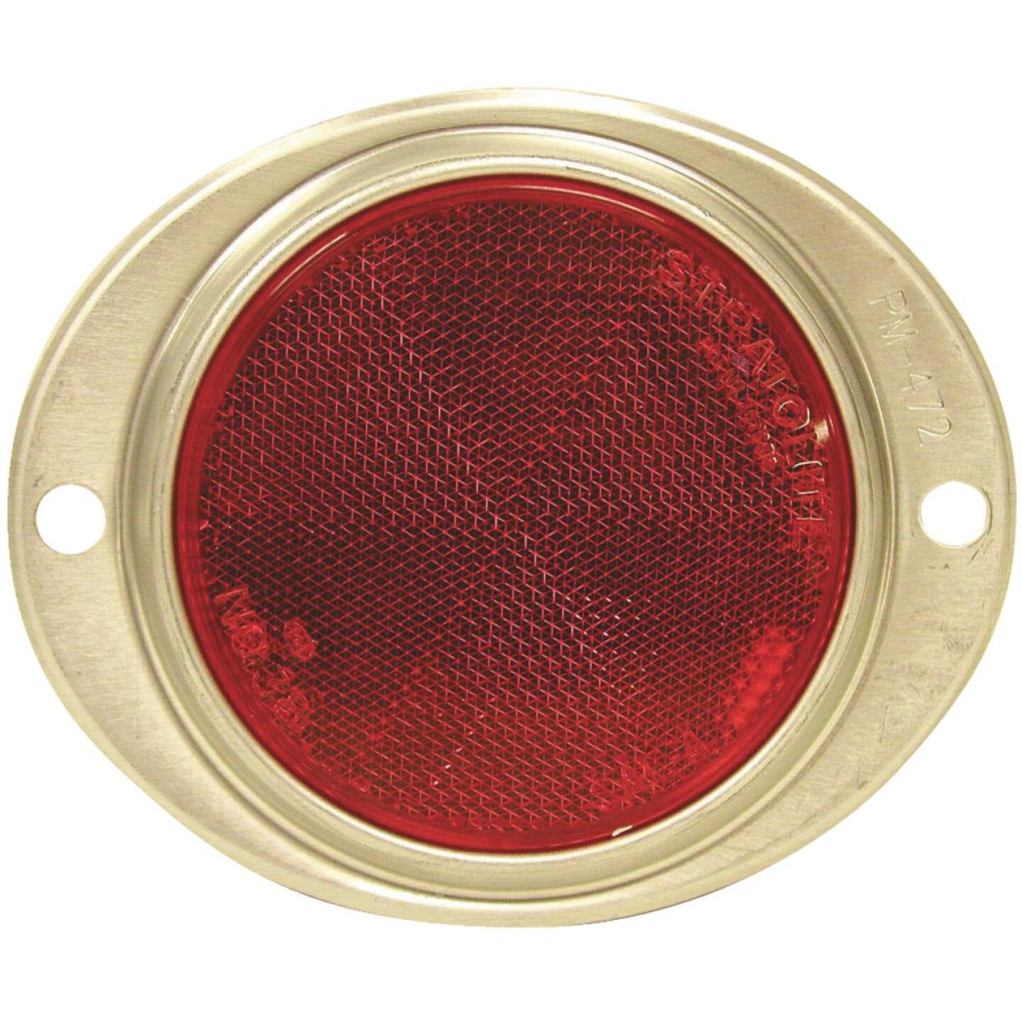 Peterson 3 In. Dia. Red Oval Reflector Image 1