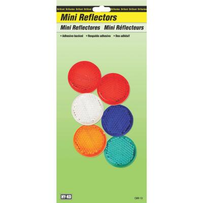 Hy-Ko 1-1/4 In. Dia. Round Self-Adhesive Mini Reflector (6-Pack)