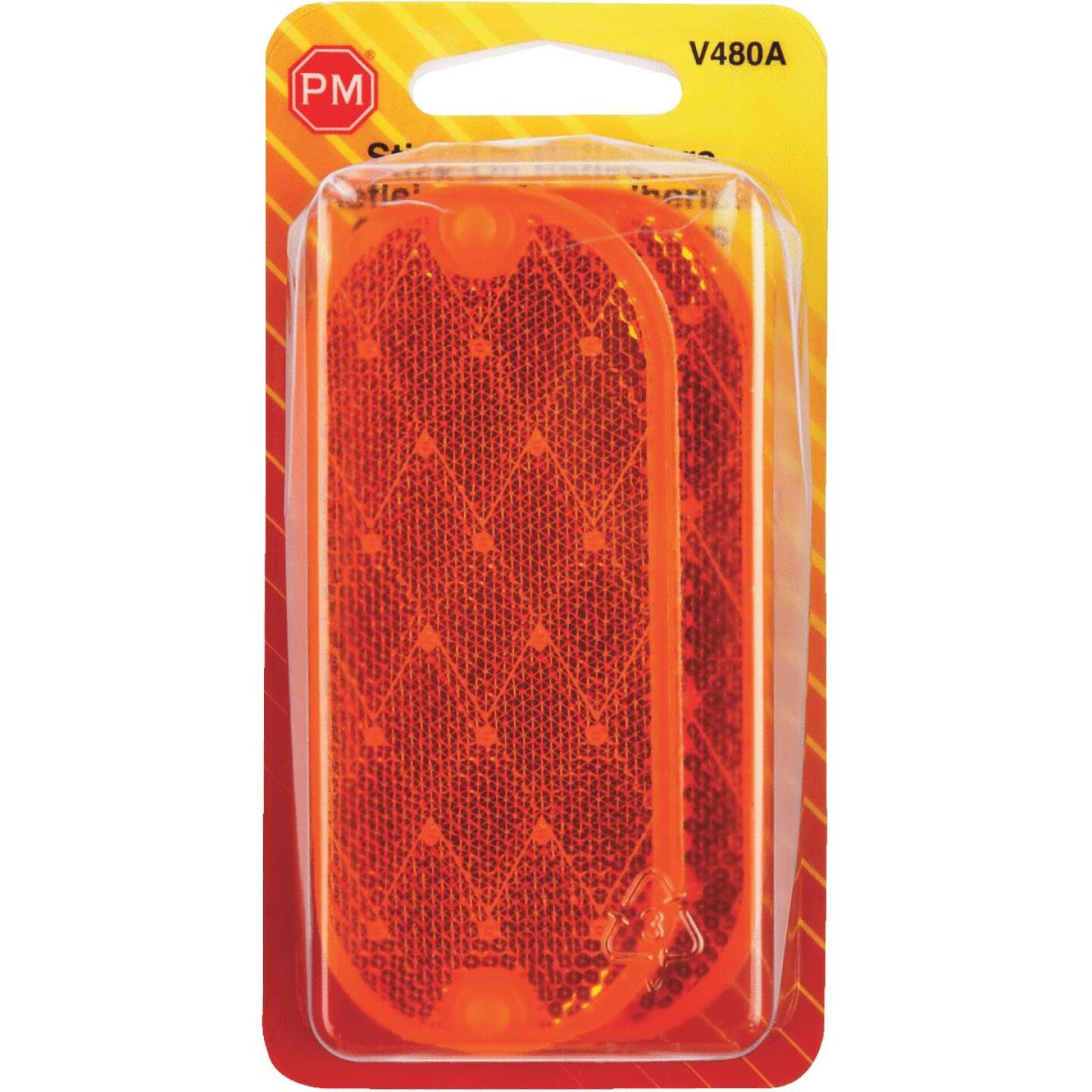 Peterson 1-7/8 In. W. x 4-3/8 In. H. Oblong Amber Oval Reflector (2-Pack) Image 2
