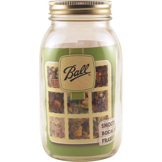 Ball 1 Quart Regular Mouth Smooth-Sided Silver Lid Canning Jar