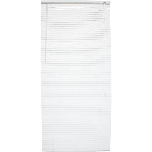 Home Impressions 38 In. x 72 In. White Vinyl Light Filtering Corded Mini-Blinds