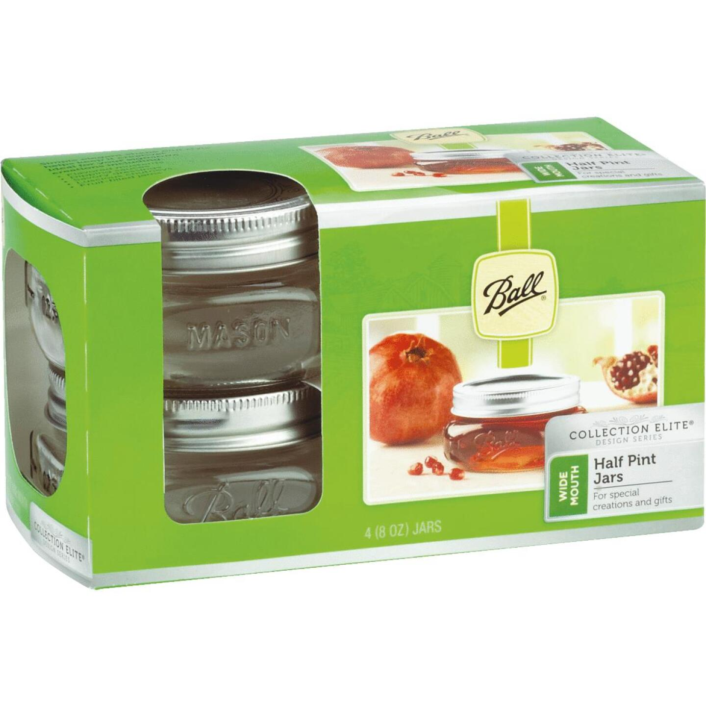 Ball Collection Elite 1/2 Pint Wide Mouth Mason Canning Jar (4-Count) Image 1
