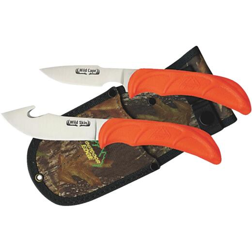 Outdoor Edge Wild Pair Stainless Steel Fixed Blade Knife Combo