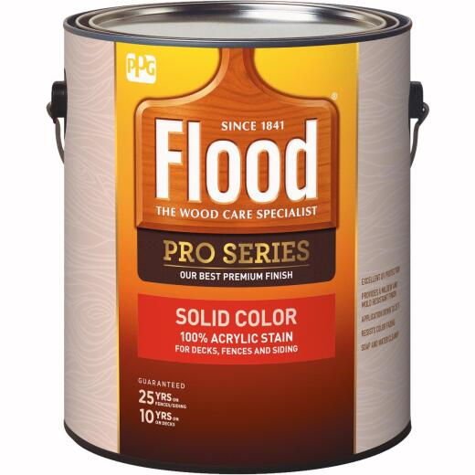 Flood 100% Acrylic Solid Color Stain, Navajo Red, 1 Gal.