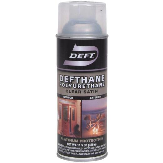 Deft Defthane Satin Clear Spray Polyurethane, 11.5 Oz.