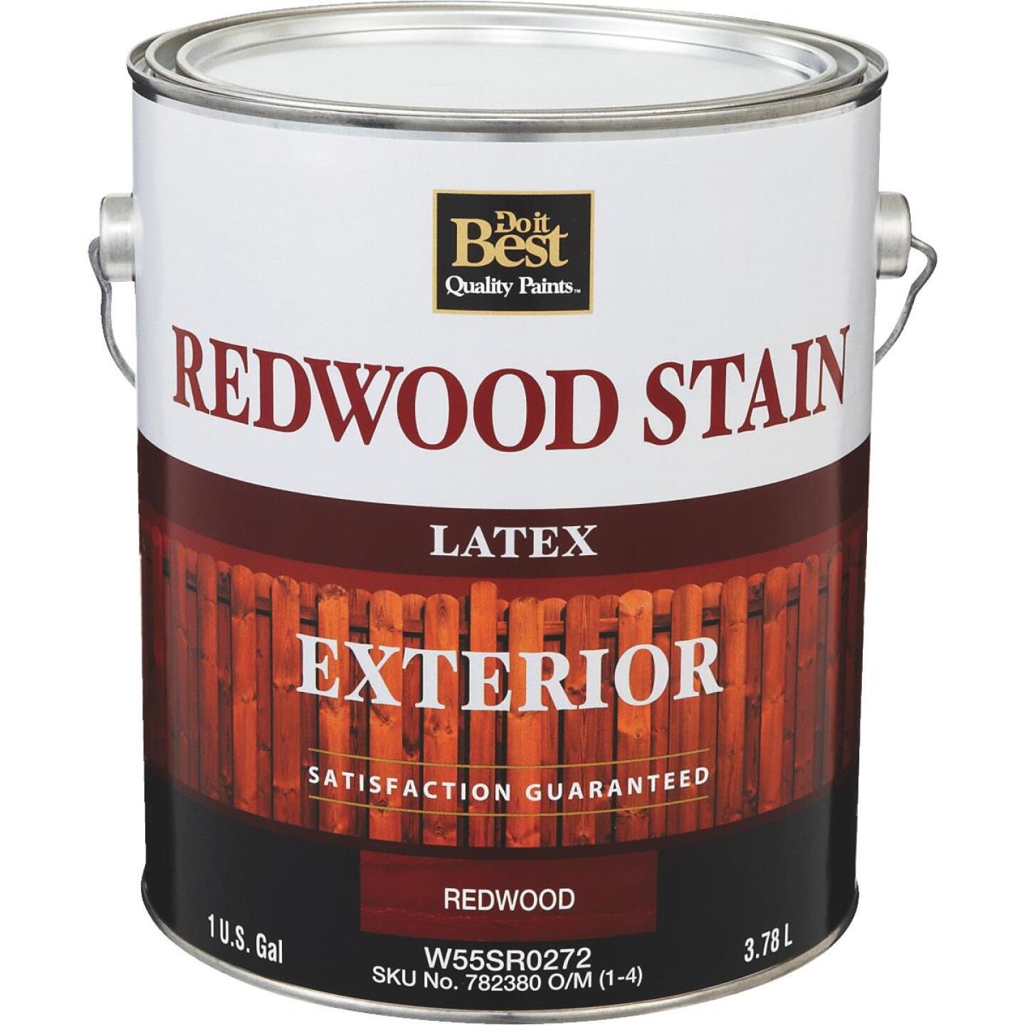Do it Best Exterior Stain, Redwood, 1 Gal. Image 1