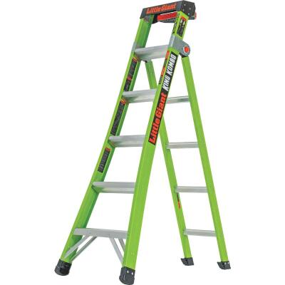 Little Giant King Kombo 6 Ft. To 10 Ft. 3-N-1 All Access Fiberglass Ladder With 375 Lb. Load Capacity Type 1AA Ladder Rating