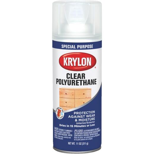 Krylon Gloss Clear Spray Polyurethane,  11 Oz.