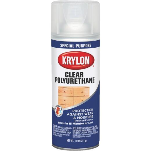 Krylon Satin Clear Spray Polyurethane,  11 Oz.