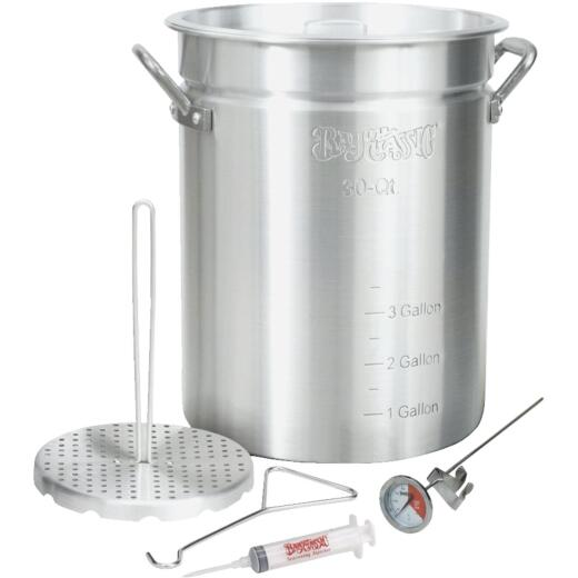Bayou Classic 30 Qt. Outdoor Turkey Fryer Pot with Vented Lid