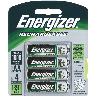 Energizer Recharge AA NiMH Rechargeable Battery (4-Pack)