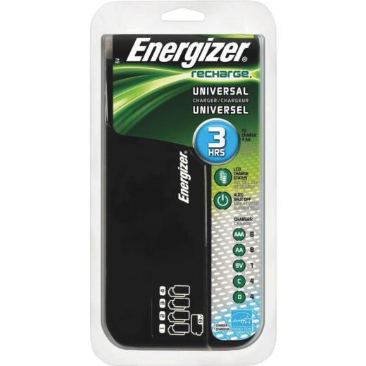 Energizer (8) AA, (8) AAA, (4) C, (4) D, (1) 9V NiMH Recharge Universal Battery Power Station