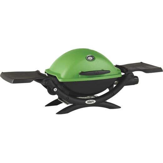 Weber Q 1200 1-Burner Green 8,500-BTU LP Gas Grill