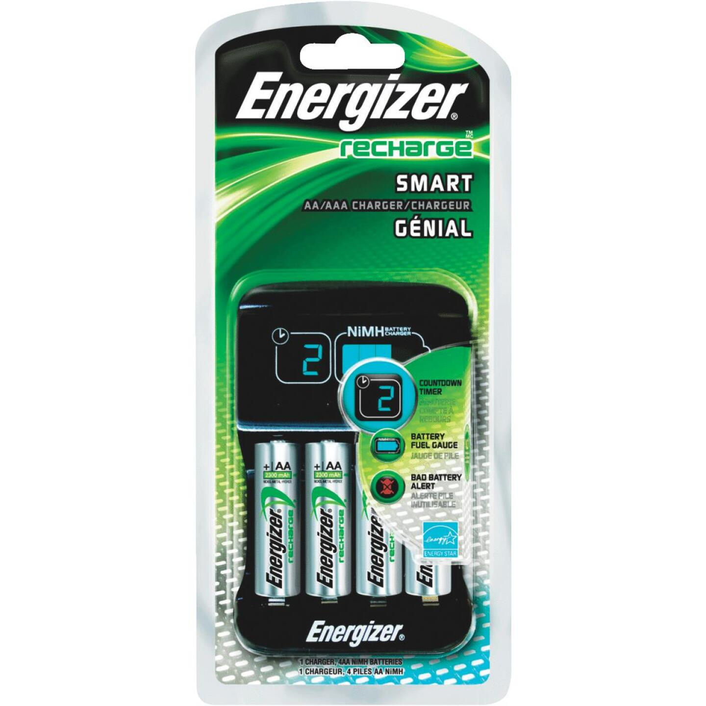 Energizer (2) or (4) AA, or AAA NiMH Smart Battery Charger Image 2
