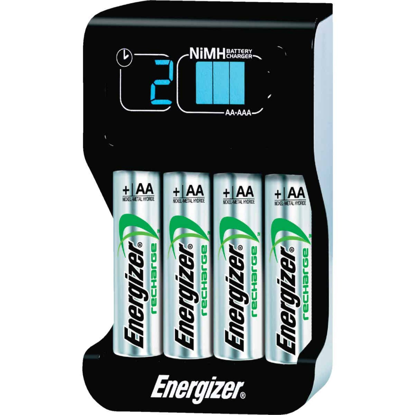 Energizer (2) or (4) AA, or AAA NiMH Smart Battery Charger Image 1